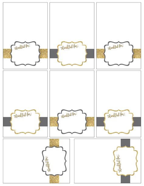 Free Printable Thanksgiving Place Cards Paper Trail Design Table Place Cards Template