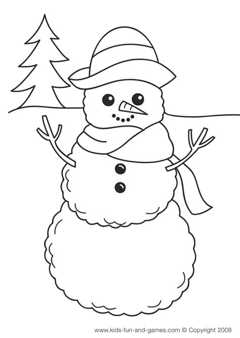 winter themes colouring pages