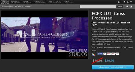 final cut pro lut developers at pixel film studios release fcpx lut cross