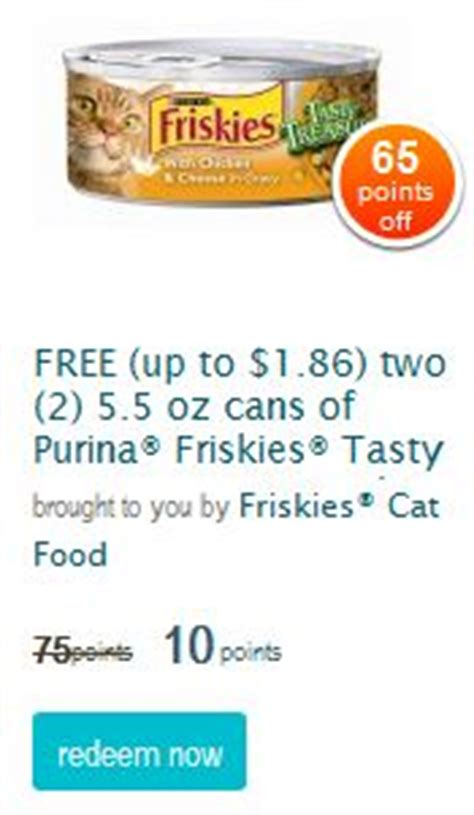 Free Pet Food Pantry by Recycle Bank Free Friskies Cat Food Coupons For 10 Points