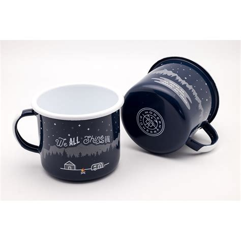 Night and Day Enamelware Mug Set   Modern Pioneer