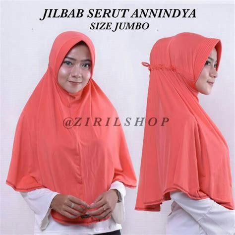 Jilbab Serut Standart Jersey Zoya anindya jumbo jilbab serut annidya adiba bahan jersey zoya