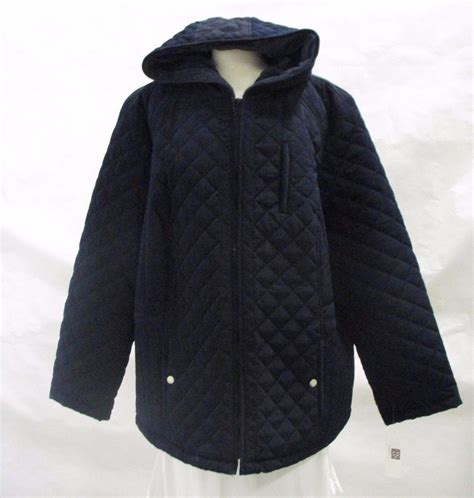 laundry design coat laundry by design coat navy 2x plus size full zip quilted