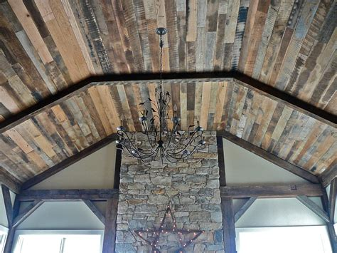 Distressed Wood Ceiling by Antique Oak Distressed Ceiling Paneling Unfinished