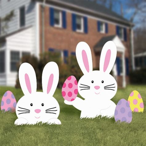 Easter Bunny Outdoor Yard Decoration Easter And Door Decoration Ideas Family