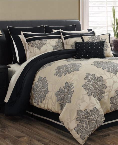 Gold And Black Bedding Sets by Home Fashions Lafayette Light Gold Black 23 Pc California