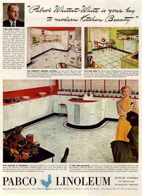 1938 kitchen ad for armstrong linoleum in black kitchen floor on 1930s kitchen 1940s kitchen and vinyl flooring