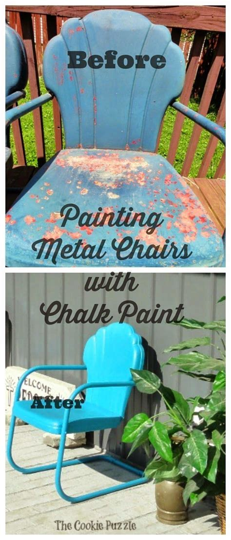 diy chalk paint metal 1000 ideas about metal chairs on painted
