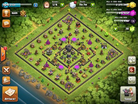 layout coc th9 clash of clans guide crows edge obstacle spawning