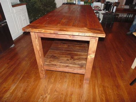 kitchen island made from reclaimed wood hand crafted reclaimed wood farmhouse kitchen island by