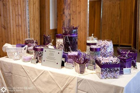 Purple Wedding Buffet Purple Wedding Ideas Candy Buffet Featuring All Purple