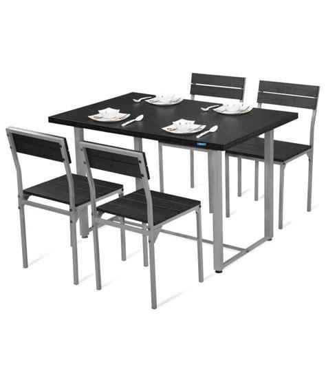 Nilkamal Dining Tables Nilkamal Magnus Dining Set 1 4 Black Buy Nilkamal Magnus Dining Set 1 4 Black At Best