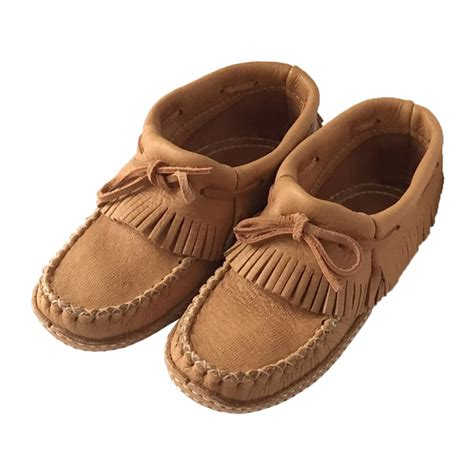 Handmade Moccasins Canada - fringed moccasins handmade from genuine moose hide
