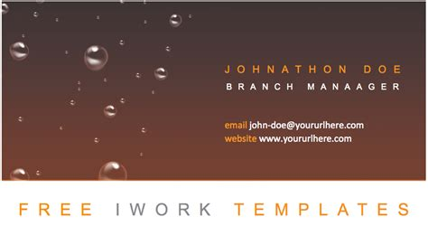Keynote Business Card Templates by Aqua Chocolat Business Card Template Free Iwork Templates