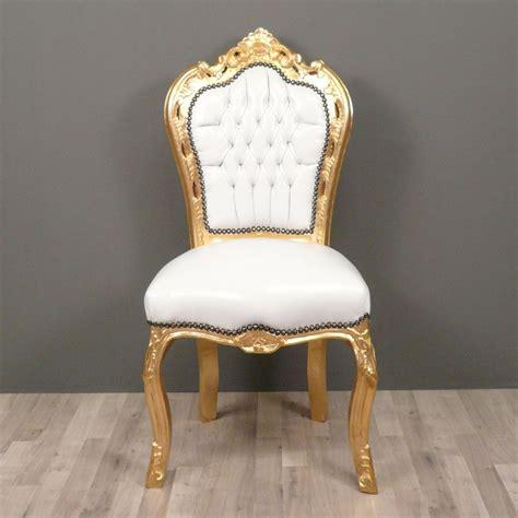 chaise rembourrée chaise baroque banche et or canap 233 baroque