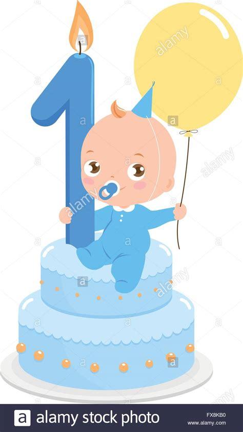 baby boy birthday baby boy on a birthday cake celebrating his birthday