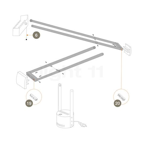 Artemide Tizio L by Artemide Spare Parts For Tizio Micro Black Light11 Eu