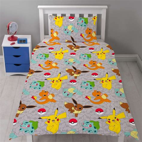pokemon comforter set pokemon catch rotary duvet cover set new kids bedding ebay