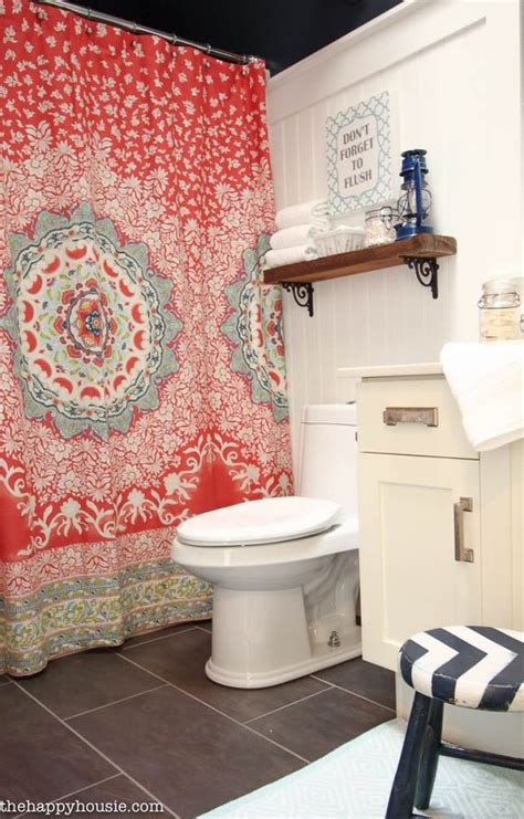 turquoise and coral bathroom hale navy chic bathrooms and bathroom makeovers on pinterest