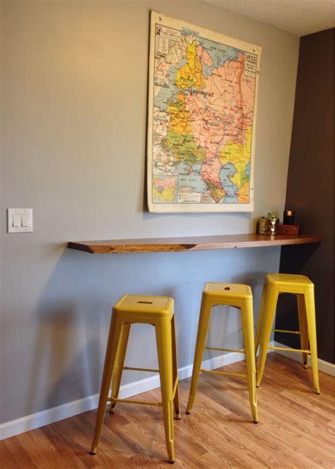 Floating Breakfast Bar, wall mounted breakfast bar
