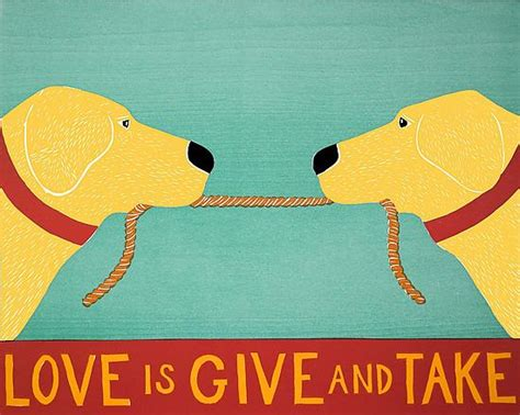 is give and take by stephen huneck giclee print