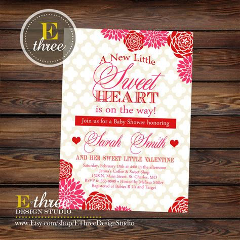 Valentines Baby Shower by Printable S Baby Shower Invitation And