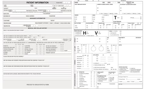 Optometry Form Template Keskes Printing Optometrists