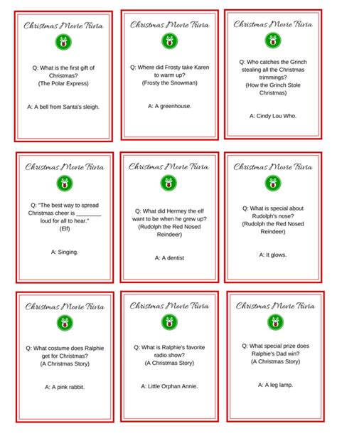 printable christmas games and trivia 7 best images of old movie trivia printable kids movie