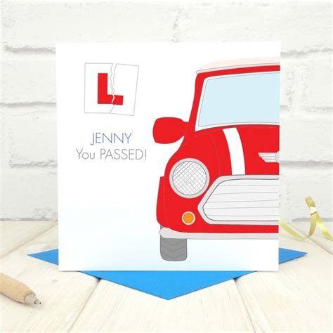 driving test personalised driving test card by chi chi moi