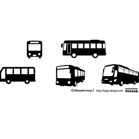 bus silhouettes vector download at vectorportal