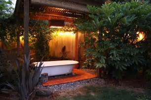 Outdoor Bathtub by 23 Amazing Inspirations That Take The Bathroom Outdoors