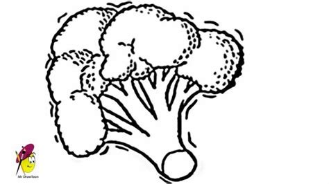 broccoli how to draw broccoli fruits and vegetables