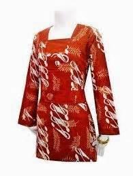 desain baju batik variasi 10 variasi desain baju batik kantor wanita 2015