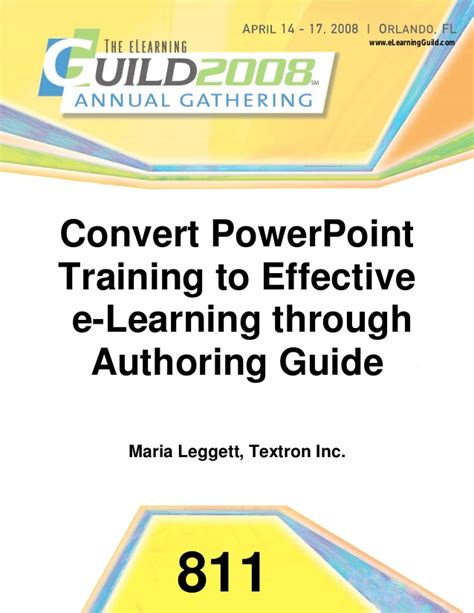 use layout and presentation of learning materials effectively convert ppt to effective e learning