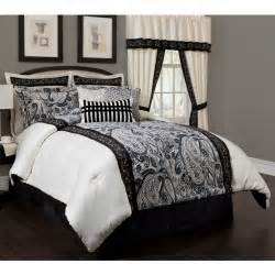 dalya black cream paisley 4 piece comforter set