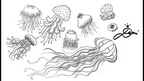 doodle zeichnen qualle zeichnen jellies doodles how to draw jellyfish