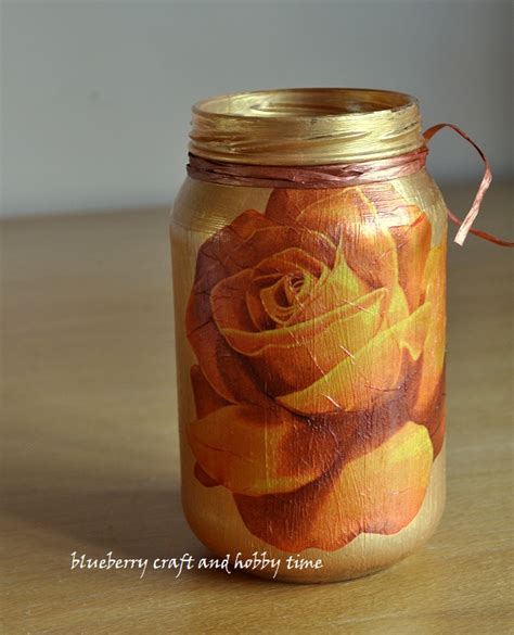 Decoupage On Glass Jars - blueberry craft and hobby time decoupage glass jar tutorial