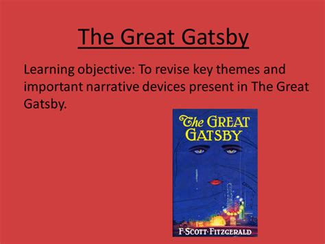 literary themes in the great gatsby the great gatsby collection tes