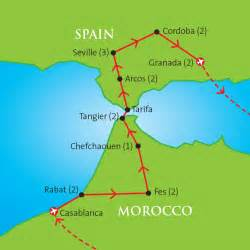 Map Of Southern Spain by Morocco And Southern Spain Fine Arts Travel Amp Cultural