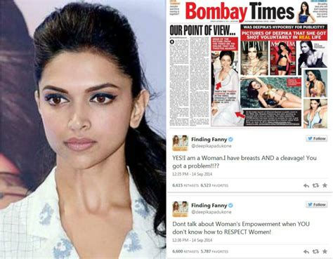 5 Deepika Padukone Controversies That Stunned Bollywood - deepika padukone s cleavage controversy bollywood bubble