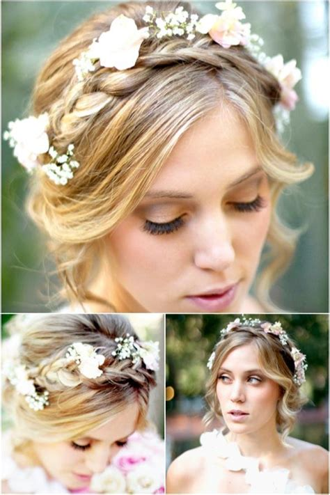 bohemian wedding hairstyles for hair a bohemian wedding hairstyle weddbook