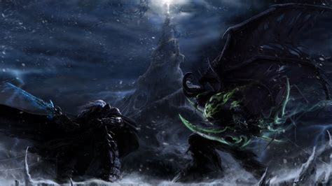 wallpaper warcraft 3 frozen throne 1920x1080 lich king frostmourne fight batlle warcraft
