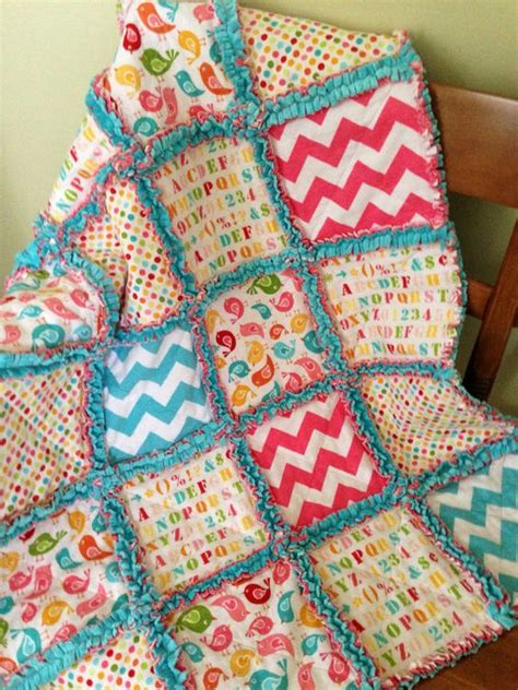 Patchwork Rag Quilt - flannels patchwork and rag quilt on