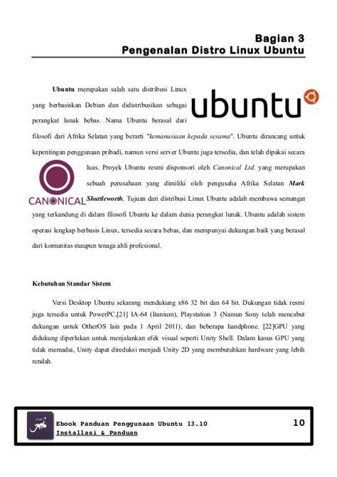 Kunci Kesaktian Pribadi Versi Ebook sedikit sejarah dan panduan ubuntu 13 10