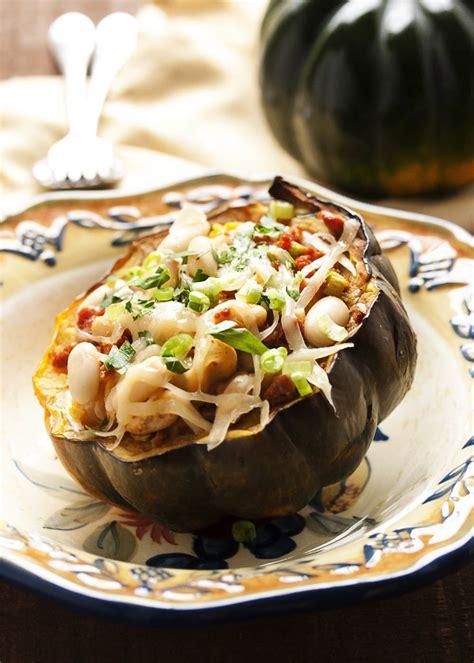 acorn squash stuffed  chorizo sausage