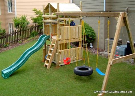 outdoor kids swing set the village waste or want 11 backyard swing set
