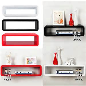 Sky Box Shelf White by Details About Floating Mfd Wall Mount Shelf Cube Skybox