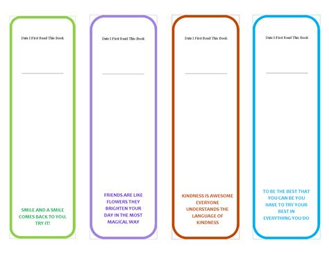 free bookmark template printable bookmarks with quotes quotesgram