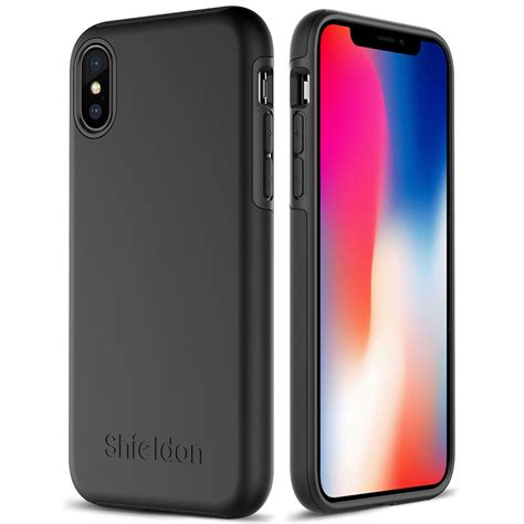 Casing Iphone 66s Black shieldon iphone x black color for apple iphone x iphone 10 plateau series