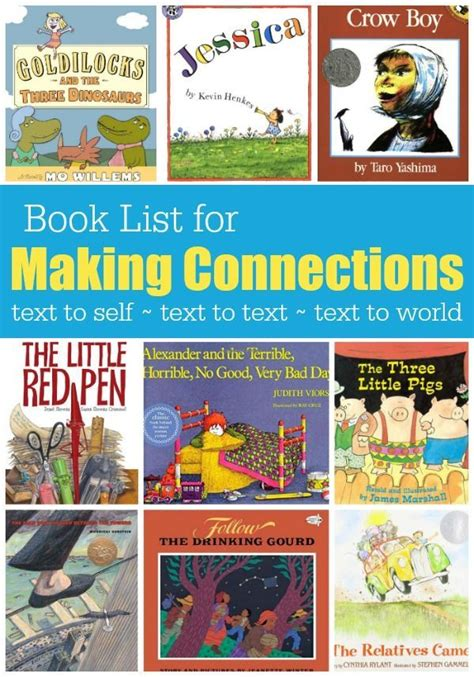 picture books to teach comprehension strategies book list for connections book lists and
